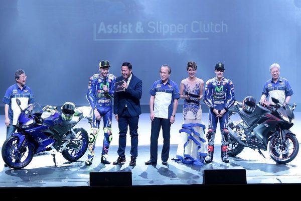 Yamaha's 2017 MotoGP stars unveil all-new YZF-R15 V3.0